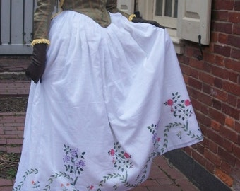 "Made to Order Late 18th Century ""Charlotte"" Painted Petticoat"