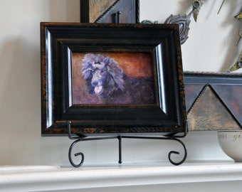Standard Poodle - Original Framed Art