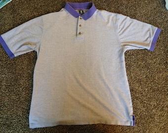 Polo w/ Purple Collar