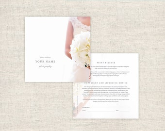 Elegant Photography Print Release Form   Wedding Photographer Print Release  Template   Copyright Form For Photographers
