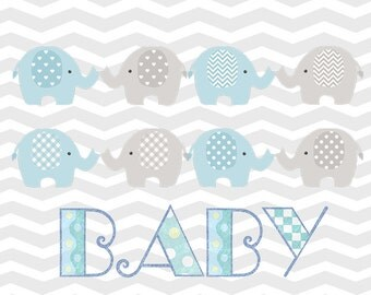Elephant Baby Wall Art