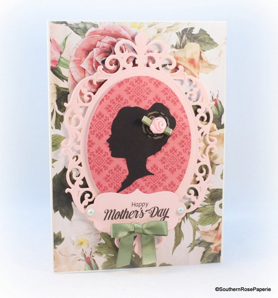 Mother 39 s day card elegant floral cottage chic shabby for Classy mothers day cards