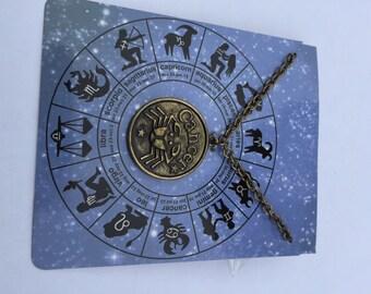 Zodiac charm necklace