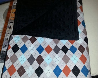 Clearance Argyle baby blanket