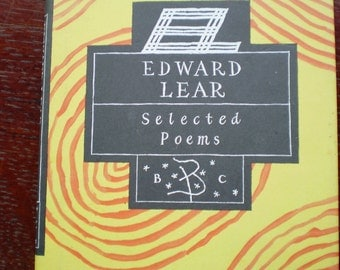 Book - Edward Lear - Selected Poems - Selected by Ian Hamilton - Bloomsbury - 1997 - British