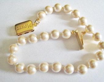 Monet Faux Pearl Bracelet