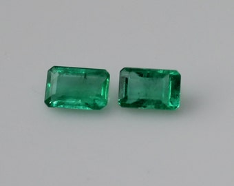 1 ct Pair of Colombian Emeralds
