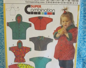 BOSS BURDA 5317 coats for spring for children 3 months to 3 years