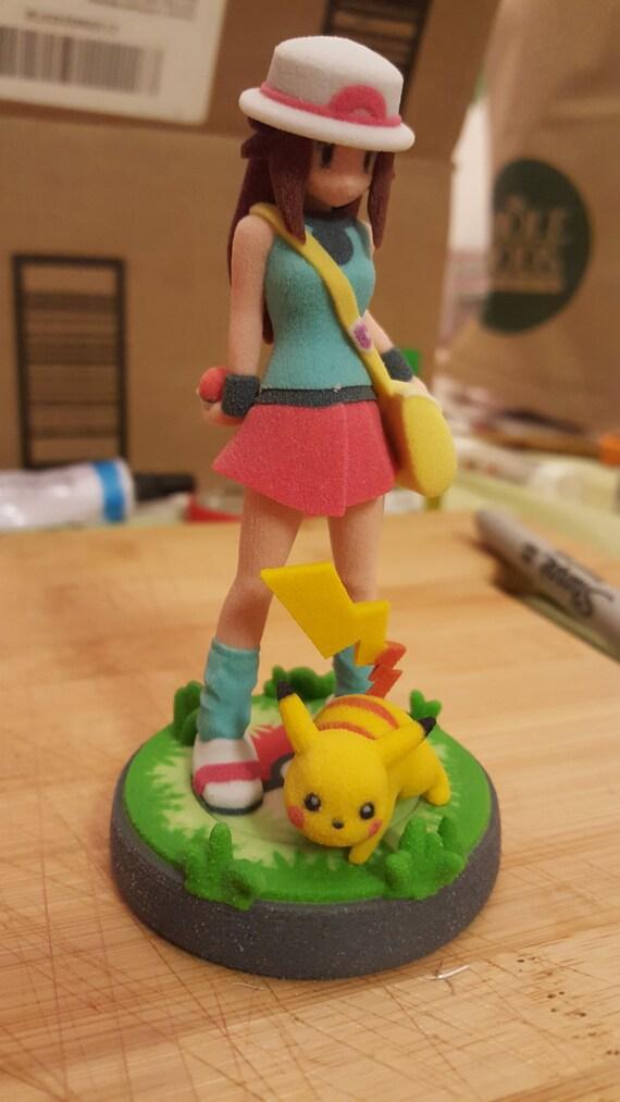 Pokemon Trainer (Girl) amiibo with custom base