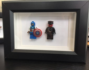Captain america red skull lego art first avenger