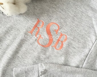 Monogrammed Shirt, Long-sleeve shirt, Monogrammed Long-Sleeve T-Shirt, Embroidered Shirt, Monogrammed Long-sleeve shirt