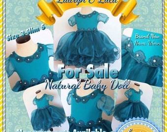 Natural pageant baby doll dress fancy party stage face national beauty contest for girls