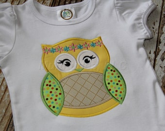 Hippie Owl Applique Shirt
