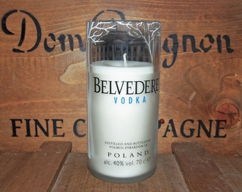 Upcycled  Vodka Bottle Candle