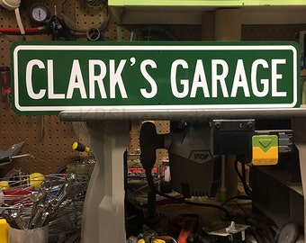 Custom Garage Metal Street Sign