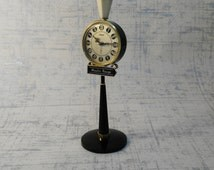 Novelty Clock, Rhythm Street Lamp Alarm Clock, Birthday Gift, Moulin Rouge Paris, Working Alarm Clock, Pedestal Alarm Clock, Gift Women Men