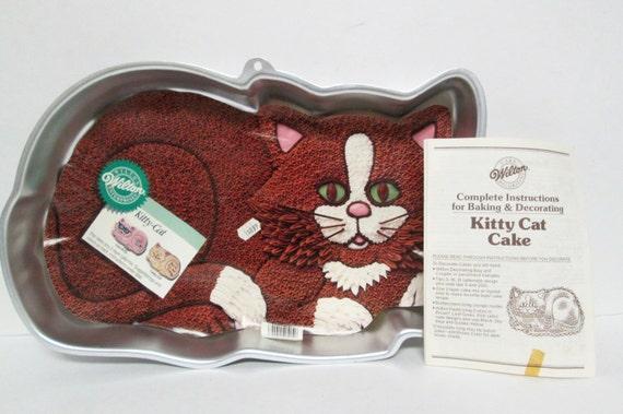 Wilton Cat Cake Pan Instructions