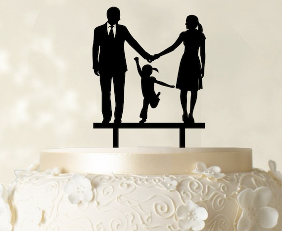 family silhouette wedding cake toppers wedding cake topper family silhouette cake topper custom 14183