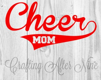 Cheer Mom SVG File, Cheerleading SVG File, Commercial & Personal Use, DIY Vinyl Decal, Silhouette Cameo, Cricut Cut File