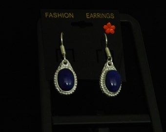 Lapis Charm Earrings