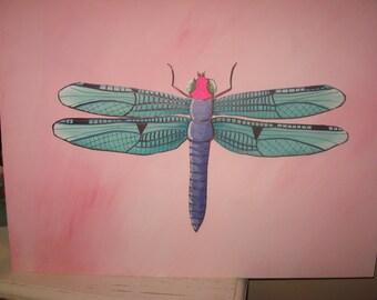 Dragonfly Painting - Dragonfly Decor - Nursery Decor