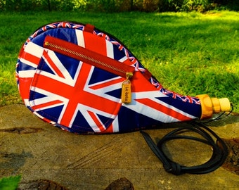 Unique Union Jack accessory, United Kingdom accessory, UK sports events apparel, UK merchandise, United Kingdom bag, Great Britain apparel