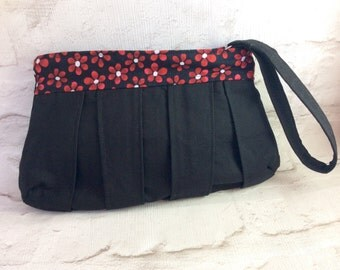SALE - 50% Off, Evening Bag, Clutch bag, Wristlet, Handbag, Gifts for her, Gifts for Mum, Pleated clutch, Cotton clutch, UK Shop.
