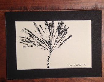 Pine Needles - Woodblock Print