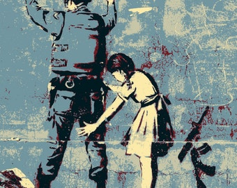 Banksy Canvas Print Urban Street Art- 2 sizes to choose from