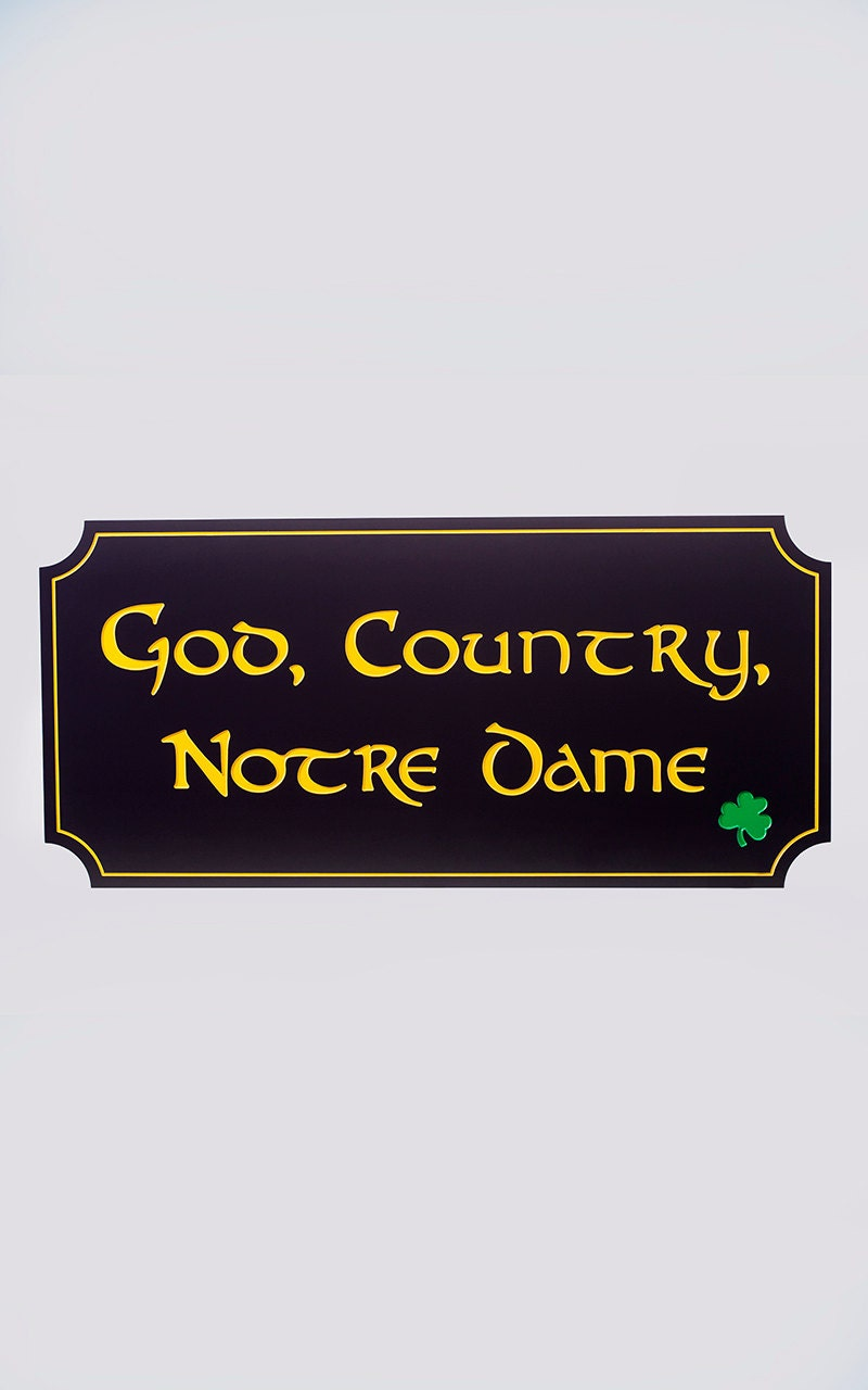 Notre dame wall hanging wall art wall decor wooden wall for Notre dame home decor