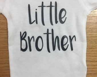 Little brother baby onesie, bodysuit, brother, toddler shirt