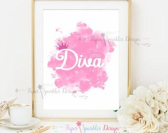 """Printable Wall Art """"LITTLE DIVA"""""""
