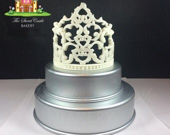 3D Edible Fondant Queen Tiara/Crown Cake Topper