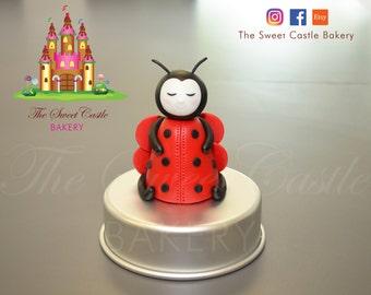 Fondant Ladybug Cake Topper