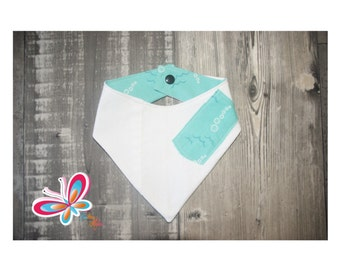 bandana jeans recycle white with turquoise and bubble