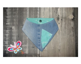 bandana jeans recycle blue with bubble