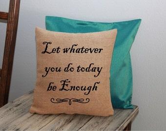 Inspirational Pillow COVER 16x16