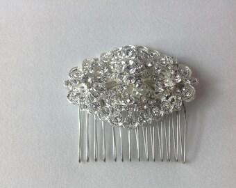 Bridal Hair Comb, Wedding Hair Accessories, Vintage Bridal Hair Combs, Pearl Rhinestone Crystal Wedding Hair Pieces