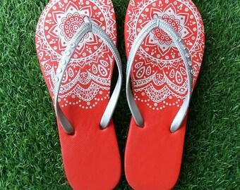Crystal Flip flops wedding flip flops women shoes henna shoes sandals women sandals gift women gift for her gift for mom