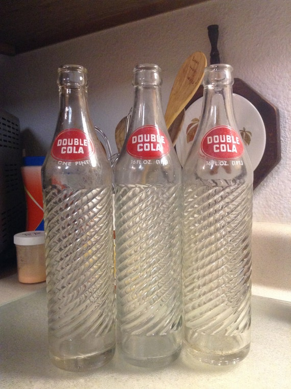 Double Cola Vintage Soda Bottles 16oz 1pt For Collecting And