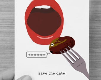 Funny Save the Date - Postcard Wedding Invitations - Digital PDF