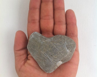 3 Natural heart-shaped stones, hand collected from Corfu Greece, beach rocks, natural heart rocks, smooth stones, wedding decoration #BS017