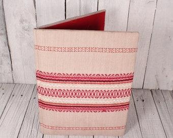 Vintage fabric Embossed Portfolio Case/ Paper Case/ Vintage folder fabric portfolio/ Vintage Folder/ Vintage case