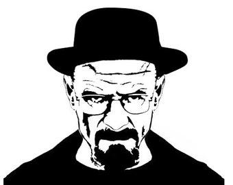 Breaking Bad - Heisenberg - Walter White Vinyl decal