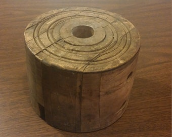 Antique Industrial Wooden Mill Wheel