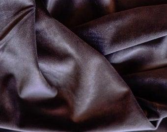 Brown Cotton Velvet Fabric