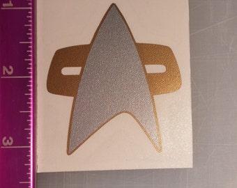 Star Trek Voyager DS9 Com Badge sticker