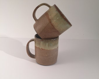 Handmade  rustic ceramic mug for coffee, hot chocolate, tea mug or any other drink in warm sand colors.