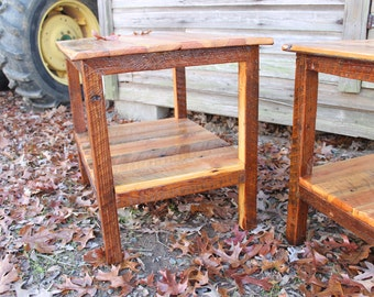 Wood Table, End table, Side Table, Rustic Table, Rustic Wood Table, Nightstand, Rustic Bedroom Furniture, Reclaimed Wood Furniture