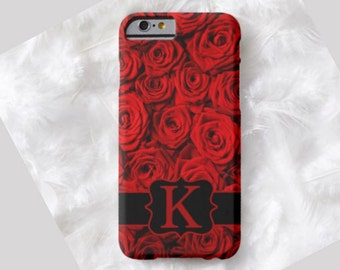 Rose Monogram Cell Phone Case, iPhone 6 case, Note 4 cell case, iPhone 6 plus cell case, iPhone 6 plus case, Galaxy Samsung S6 #316